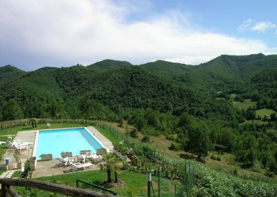 Piscina dell'Agriturismo La Cittadella a Montemonaco sui Monti Sibillini13