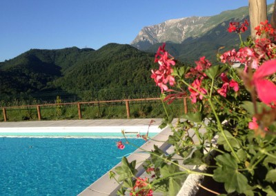 Piscina dell'Agriturismo La Cittadella a Montemonaco sui Monti Sibillini4